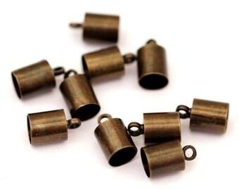 10 End Caps 5 mm/Bronze