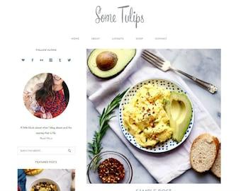 Feminine WordPress Theme Some Tulips / Blog Theme / Genesis Child Theme / Photography Theme / Minimalist WordPress
