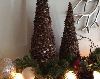 Pine Cone Christmas Tree, Natural Pine Christmas, Table Decorative Centerpiece, Mantle Decor, Small Christmas Tree,