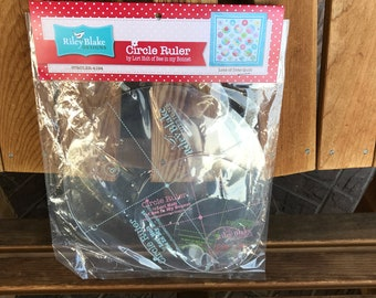 """Circle Ruler Set by Lori Holt For Riley Blake 9"""", 6"""", 4"""" AND 2"""" Sizes With Retail Packing"""