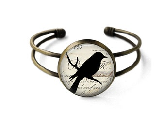 Vintage Black Bird Bracelet