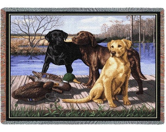 Labrador Board Meeting Blanket or Wall Hanging
