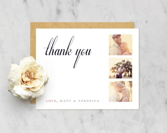 Printable Thank You Card with Photo Options — Classic, Traditional, Simple