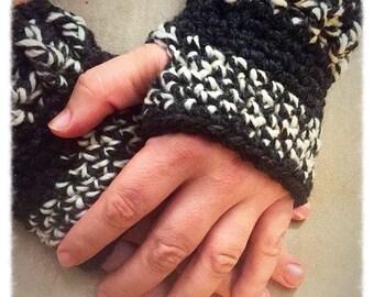 Mens size fingerless gloves one size