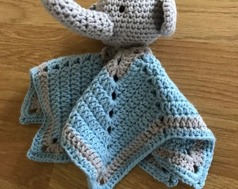 Handmade Elephant Baby Comforter/Soother - Ideal New Baby/Shower Gift