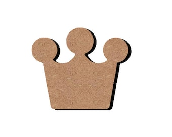 Wood - A little Princess or Prince Crown support paint or decorate