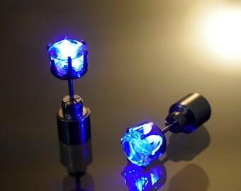 Blue LED Earrings by Platube