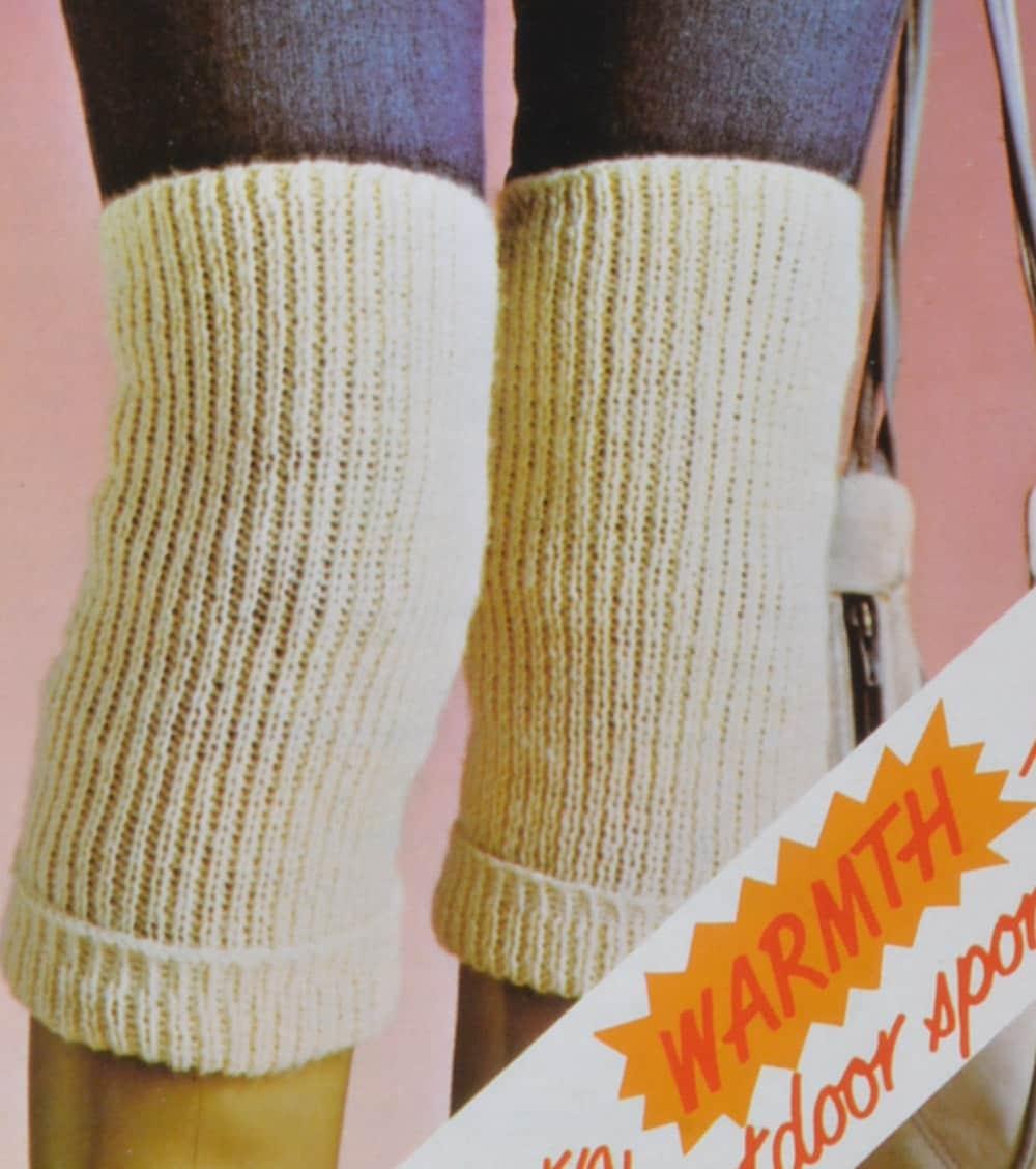 PDF knee warmers bed socks back warmer vintage knitting