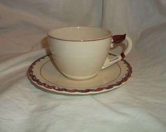 Vernon Kilns MONTEREY Cup and Saucer California Pottery