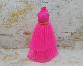 Dawn Doll Neat Pleats 710 pink  gown fashion Outfit 6.5 inch dolls Topper Dawn Angie Glori Jessica
