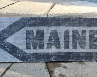 Custom Rustic State Wood Sign, All 50 States Available