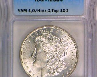 1879-O Morgan Dollar ICG MS-64; Vam-4, O/Horizontal O, Top 100; Frosty White!