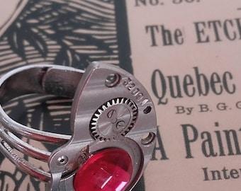 Ring creation vintage timepiece