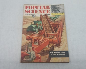 Popular Science February 1950 - Great Condition - Fascinating Articles and Hundreds of Vintage Advertisements