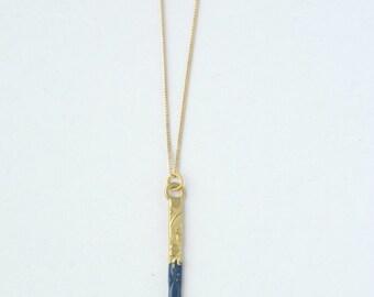 Cobalt Dipped Pendant