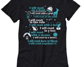 Book Lover's T-Shirt - Bookworm Tee - Teacher Christmas Gift - Gift for Book Lover - Librarian Women's Tee - Gift for Her