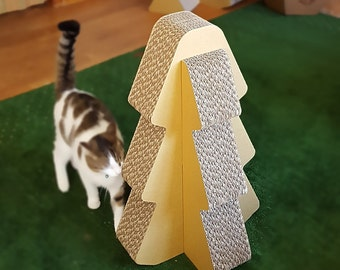 Cat Scratcher Tree, Cat Furniture, Cat Tree, Cat Scratcher, Cardboard Cat House, Cat Gift, Cat House, Cardboard Scratcher, Scratcher Post