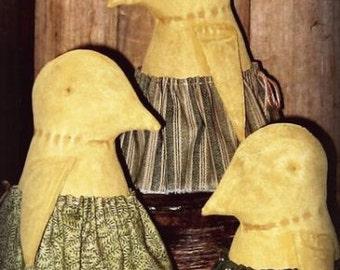 PDF  E Pattern INSTANT DOWNLOAD Primitive Easter Chicks