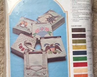 Vintage The Great Khaki Bag Kit Handbag Sewing Crafting Open Incomplete Supplies