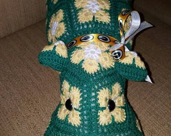 Crochet Green Bay Packers  Hippopotamus the Hippo, Heidibears Design.
