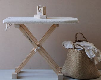 Handmade Toddler Role Play Cotton and Rope Ironing Board.