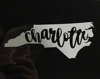 NC Charlotte Decal