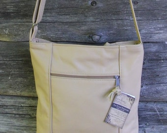 Leather Crossbody Bag-Tan Leather Purse for Women-Travel Bag-Crossbody Purse for Women-Leather Purse for Women- Lg. Emily style- made in USA