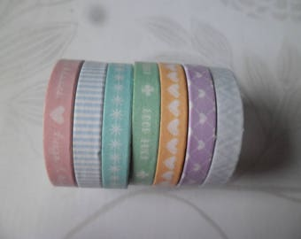 7 times 3 m adhesive tapes Washi tape with multicolored pattern repositionable 6 mm