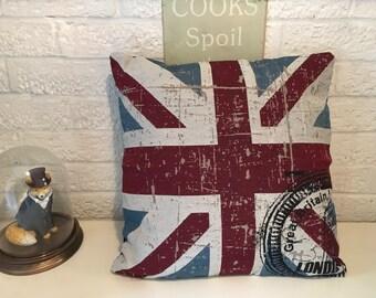 Hand UK Union Jack  Flag Cushion Pillow
