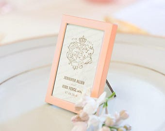 Rose Gold Mini Photo Frame - Wedding Favour Gift - Pack of 3