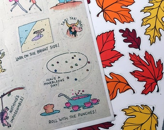 Vintage Hallmark Sticker Sheets Set of 2