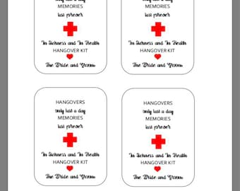 PRINTABLE Hangover Kit Tags