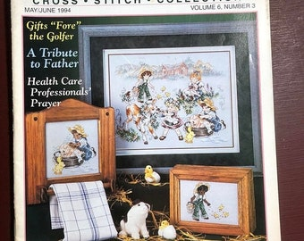 MAYniaSALE Stoney Creek Collection, magazine, Vintage, 1994, May/June, Counted Cross Stitch, Patterns, Gifts for the Golfer