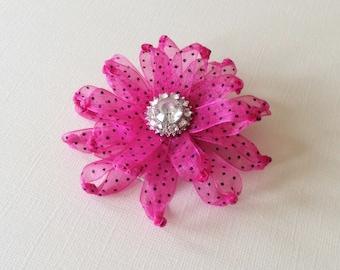 Pink Flower hair clip - Flower hair clip - Flower hair accessory - Kid's hair clip - Wedding hair clips - Hair accessories