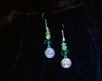 Tree Of Life Shine and Shimmer Dangle Earrings