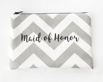 Maid of Honor Bag - Bridesmaid Bag -  Makeup Bag - Personalized Makeup Bag - Cosmetic Bag - Toiletry Bag - Wallet - Medium