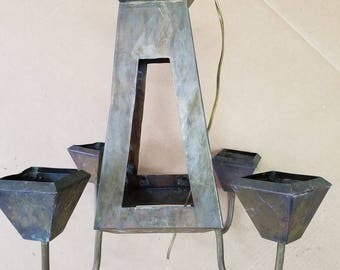 Salvaged, Vintage Solid Copper Arts & Crafts, Mission Light, SHIPPING INCLUDED