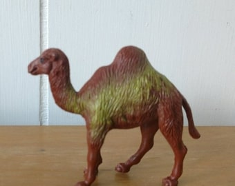 MEMORIAL DAY SALE vintage toy camel figurine yellow