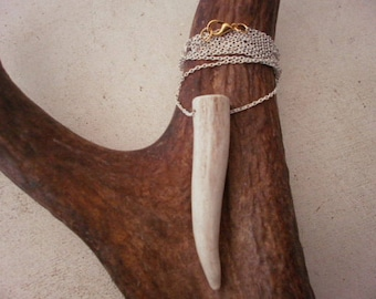 Natural antler tip necklace-jewelery-rustic-real-accessories-design-custom wedding