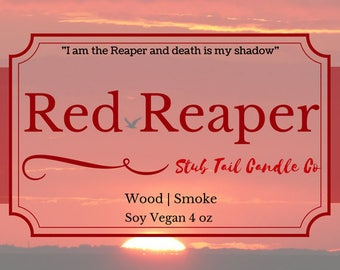 Red Reaper - Scented Soy Candle Based off of Red Rising