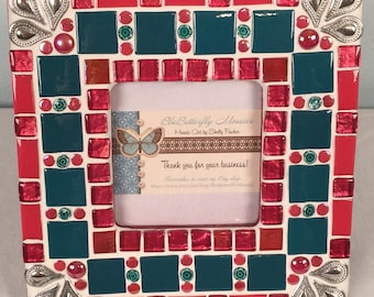Christmas Red Mosaic Picture Frame