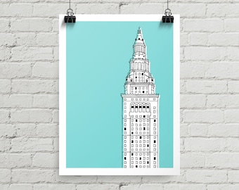 Terminal Tower - Giclee Print