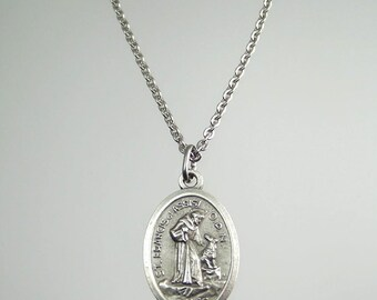 Saint Francis of Assisi Prayer Medal Necklace