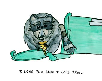 I Love You Like I Love Pizza - Raccoon Identification Guide