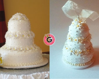 Wedding cake replica mini wedding cake ornament first year