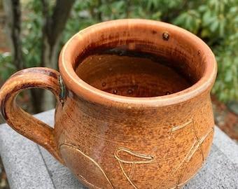 Handmade rustic bycicle mug