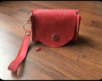 Leather bag Small Antique strawberry