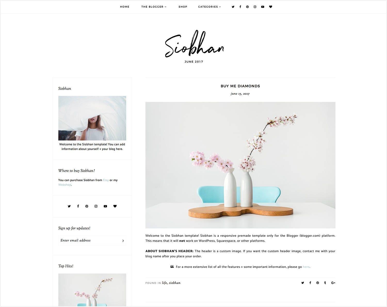 Siobhan Responsives Blogger-Vorlage kostenlose