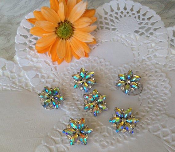 Ballroom Dancer Hair Jewelry-Aurora Borealis-Rainbow Hair Jewels-Hair Spins-Spirals-Swirls-Coils-Twists-DebsTwisties-Bridal Hair-Twistins