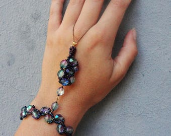 Crystal slave Bracelet - Choose Your color - Statement Jewelry